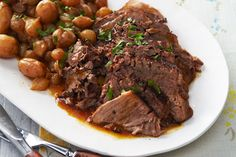 Enjoy the aroma of a pot roast braising its way to deliciousness! Here are traditional beef pot roast recipes, slow-cooker versions, sides and more.