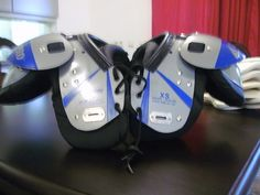 shoulder pads sz xtra small Shoulder Pads, Computer Mouse, Football, Pc Mouse, Soccer, Futbol, American Football, Mice, Soccer Ball
