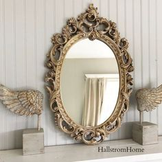 """This vintage mirror makes a beautiful statement in any room of the house. Painted with a soft pink color. Dimensions: 34.5""""tall x 17""""wide. Inside measures 17.5"""" x 13"""" INSURANCE IS PROVIDED We Provide"""