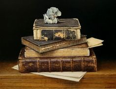 Aad Hofman | OIL | Books With Hydrangea
