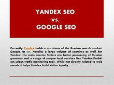 Yandex SEO services i more beneficial for your Russian website.  Buy our Yandex SEO Services: http://fiverr.com/seoranks1/provide-russian-yandex-seo-services