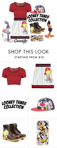 """Looney Tunes"" by sghotra ❤ liked on Polyvore featuring Topshop, Moschino, Casetify, women's clothing, women, female, woman, misses and juniors"