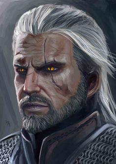 Geralt of Rivia , Juninho Albert on ArtStation at https://www.artstation.com/artwork/zmWqZ