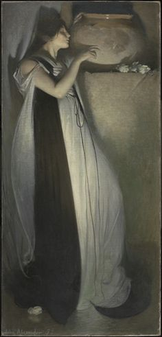 Isabela y el tiesto de albahaca (Isabella and the Pot of Basil, de John White Alexander James Abbott Mcneill Whistler, Symbolic Art, Art Through The Ages, Legends And Myths, Found Art, Best Portraits, Pre Raphaelite, Art For Art Sake, Museum Of Fine Arts