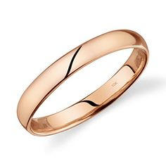 10k Yellow Gold 3mm Flat Band Ring Fine Jewelry Ideal Gifts For Women