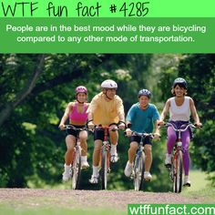 Hmm! ...Healthy, Cost Efficient, & Good for the Environment. - The Best Transportation?  ~WTF! fun facts