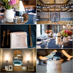 DIY Nautical Wedding at Tyee Yacht Club in Seattle Washington | Salt & Pine Photography | www.saltandpinephoto.com | #DIY #nautical #navy #bunting #details #inspiration #wedding #seattle #fall