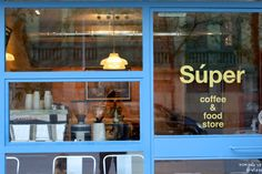 Súper coffee & food store Barcelona, Spain @sandybrunnerarchitecture Healthy, fresh, homemade take away food