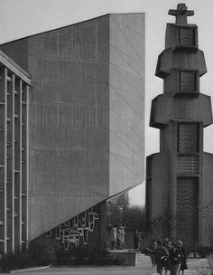 Church St Johannes Capistran (1967-68) in Berlin, Germany, by Reinhard Hofbauer