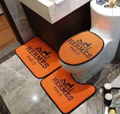 Orange Carpet H Letter Horse Print Bath Mats U Type Fashion Non-slip Bathroom Carpet For Men And Women Bathroom Carpet, Bathroom Rug Sets, Bathroom Spa, Home Carpet, Carpet Sale, Custom Curtains, Drapes Curtains, Plastic Carpet Runner, Full Bath