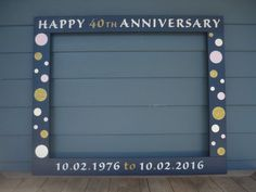 Photo Booth Frame 34X28/Anniversary Photobooth by PalletCreatives