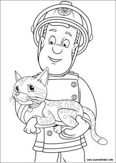 busy firefighter coloring pages | Die 63 besten Bilder von Feuerwehrmann Sam | Feuerwehrmann ...
