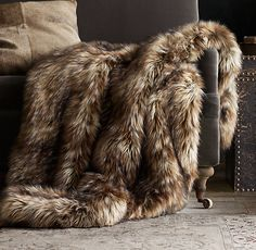 Exotic Faux Fur Throw to add some warmth to an industrial loft space