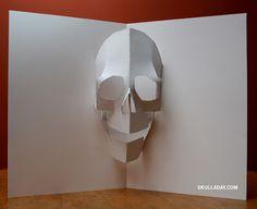 Pop-Up Skull template