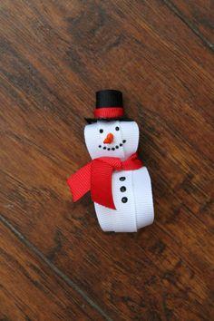 Snowman Hair Clip. $5.50, via Etsy.