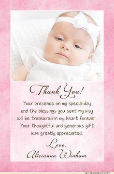 Babys dedication invitation diy invitations pinterest christening baptism photo thank you card baby girl stopboris Choice Image