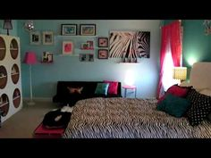 A you tube video of a zebra themed room.  I have a zebra chair I bought as a start to Ivy's room.  I LOVE this bedroom!