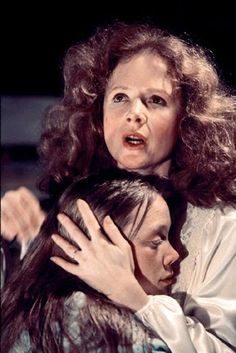 Piper Laurie & Sissy Spacek in Carrie (1976)...this movie is scary but I love it!!