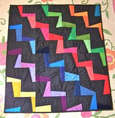 Zig Zag quilt front, inspired by http://tingtongandthings.blogspot.com/2011/06/baby-quilts.html