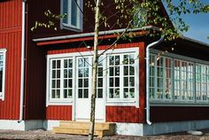 Darby House, Exterior Paint Color Combinations, House Plans With Pictures, Country Home Exteriors, Sweden House, House Extensions, Cottage Living, Future House, Beautiful Homes