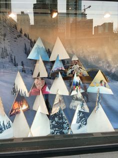 """The North Face, Chicago, USA, """"Recycled Cardboard Christmas Tree's"""",uploaded by Ton van der Veer"""