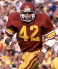 USC Trojan defensive back Ronnie Lott. One of the greatest defensive players of all time.