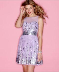 Ruby Rox Dress, Sleeveless Sequin Sweetheart Mesh A-Line