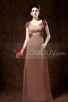Now,the price Is $116.99 #ListPrice$359.00 #Mother of the Bride Dresses  #Wedding Apparel  ,Column V-Neck Short Sleeves Floor-length Taline's Mother of the Bride Dress.