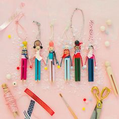 DIY Clothespin People Ornaments