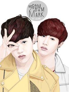 Fan art for Mark & BamBam #bambam #marktuan #got7
