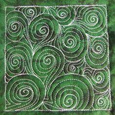 Click the link to watch a video and see how to quilt this cool design any where on your quilts!  freemotionquilting.blogspot.com/2010/05/day-170-sixes-swi...