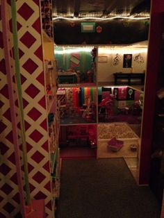 American Girl Doll House (8ft x 12 ft room, House is 4 levels, 32 rooms)