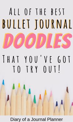 Read here for the ultimate list of step-by-step doodle guides and tutorials to become a doodling pro in your bullet jorunal! Easy Doodles Drawings, Easy Doodle Art, Cool Doodles, Doodle Ideas, Simple Doodles, Doodle For Beginners, Bujo Doodles, Bullet Journal Printables, Doodle Art Journals