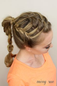 Triple French Braid Double Waterfall Ponytail | Missy Sue