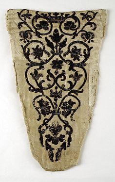 18th century Italian stomacher | silk