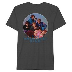 Men's Breakfast Club Group Shot T-Shirt Charcoal Gray Large, Charcoal Heather