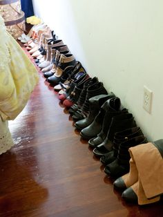 Fashion blogger Liz Cherkasova's sea of shoes!