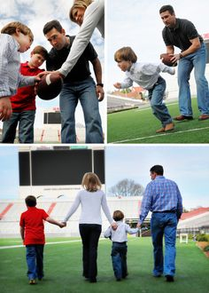 Is your family full of good sports? Try a photo session at a local athletic venue!