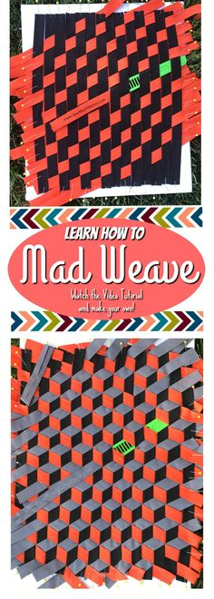Try this Mad Weave Triaxial Weave Modern Fabric Weave.  Use the Wefty Needle to help with making this Modern Weave.  Free video tutorial with step by step instructions!  Such a cool project!