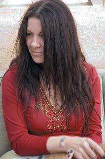 Johnette in red