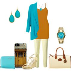 """""""Turquoise outerwear for summer"""" by sep120 on Polyvore #summercoat #etsy Smartphone case with my photo of an Art Nouveau door, for sale on Etsy https://www.etsy.com/listing/191221692/art-nouveau-door-smartphone-case?"""