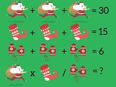 It's the most wonderful time of the year: time for a pop math quiz. Test your festive problem-solving skills here! Math Logic Puzzles, Mind Puzzles, Logic Problems, Christmas Quiz, Brain Teasers With Answers, Math Talk, Math Challenge, Picture Puzzles, Problem Solving Skills