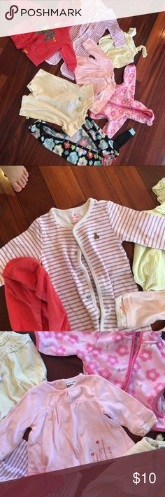 Bundle of six month baby girl clothes Great condition six months of age 7 pieces in total various One Pieces Bodysuits