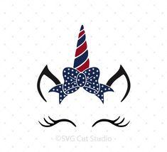 4th of July Unicorn SVG Cut Files