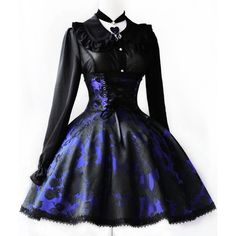 Gothic Lolita/Steampunk/Victorian Inspired Style ❤ liked on Polyvore featuring dresses, gothic and lolita