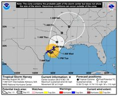 As of the 7am National Hurricane Center update this morning, Tropical Storm Harvey is moving back over the Gulf of Mexico near Matagorda Bay where it will remain before turning back to the northeast on Tuesday and make a second landfall near Galveston Bay. Harvey is expected to undergo some...