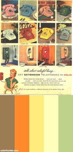 Colorful-living+C.1950s+Color+Scheme