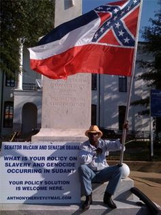 Well Known Black Pro-Confederate Flag Activist Killed During Apparent Car Chase… Southern Heritage, Southern Pride, Senator Mccain, Confederate Flag, Confederate Monuments, Birmingham Alabama, Civil War Photos, African American History, American Civil War