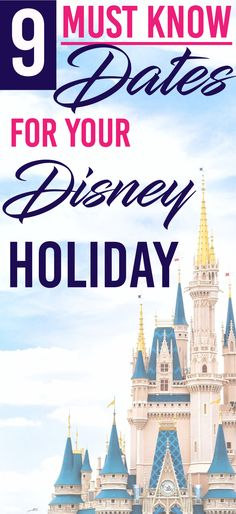 There are 9 main dates you must know for your Disney holiday. Ignore them at your own risk. But plan around them and you can have the trip of a lifetime. Disney World Parks, Disney World Planning, Walt Disney World Vacations, Disney World Resorts, Family Vacations, Disney World Tips And Tricks, Disney Tips, Disneyland Tips, Disney Disney