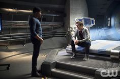 "The Flash -- ""Fast Enough"" -- Image FLA123A_0004b -- Pictured (L-R): Jesse L. Martin as Detective Joe West and Grant Gustin as Barry Allen -- Photo: Diyah Pera/The CW -- © 2015 The CW Network, LLC. All rights reserved.pn"